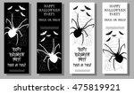 set of halloween ticket on...   Shutterstock .eps vector #475819921