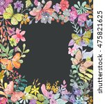 flower watercolor illustration. ...   Shutterstock . vector #475821625