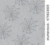 cobweb seamless pattern....   Shutterstock . vector #475823005