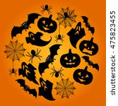 halloween background. halloween ... | Shutterstock . vector #475823455