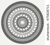 ethnic mandala. tribal hand... | Shutterstock .eps vector #475828711
