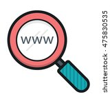web search vector icon