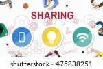 technology communication icons... | Shutterstock . vector #475838251