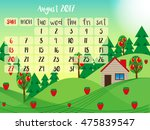calendar month  august | Shutterstock .eps vector #475839547