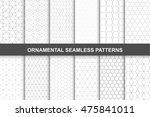 collection of ornamental vector ... | Shutterstock .eps vector #475841011