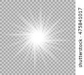 vector glowing light effect on... | Shutterstock .eps vector #475841017