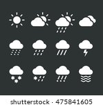 modern weather icons set. flat... | Shutterstock .eps vector #475841605