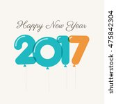 happy new year 2017 card ... | Shutterstock .eps vector #475842304