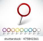 map pointer set | Shutterstock .eps vector #475842361
