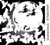 halloween background. ghosts ... | Shutterstock .eps vector #475842949