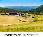 large green meadows and rural... | Shutterstock . vector #475844671