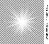vector glowing light effect on... | Shutterstock .eps vector #475845217