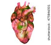 unusual human heart. hand drawn ...   Shutterstock . vector #475846501