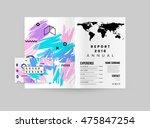 hand drawn universal art.... | Shutterstock .eps vector #475847254