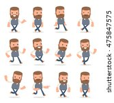 set of funny and cheerful... | Shutterstock .eps vector #475847575
