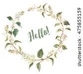 watercolor winter berry wreath  ... | Shutterstock . vector #475855159
