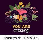 vector illustration of floral... | Shutterstock .eps vector #475858171
