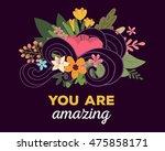 vector illustration of floral... | Shutterstock .eps vector #475858171