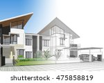 townhouse  3d illustration | Shutterstock . vector #475858819