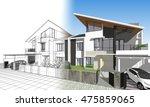 townhouse  3d illustration | Shutterstock . vector #475859065
