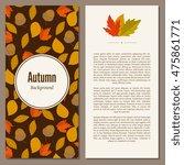 autumn leaves fall on banner... | Shutterstock .eps vector #475861771