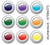 varicolored buttons. vector. | Shutterstock .eps vector #47586373
