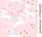 seamless deer pattern | Shutterstock .eps vector #475864249