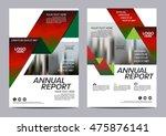 christmas brochure layout... | Shutterstock .eps vector #475876141