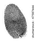 vector fingerprint | Shutterstock .eps vector #47587666