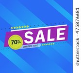 sale and special offer. 70  off.... | Shutterstock .eps vector #475876681