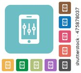 flat smartphone tweaking icons... | Shutterstock .eps vector #475878037