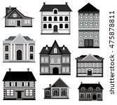 set of  flat design buildings... | Shutterstock . vector #475878811