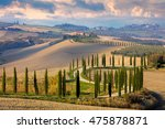 landscape of hills  country... | Shutterstock . vector #475878871
