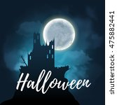 halloween design poster with a... | Shutterstock .eps vector #475882441