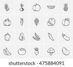 healthy food sketch icon set... | Shutterstock .eps vector #475884091