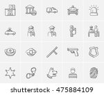 police sketch icon set for web  ... | Shutterstock .eps vector #475884109