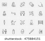 maternity sketch icon set for... | Shutterstock .eps vector #475884151