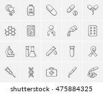 medicine sketch icon set for... | Shutterstock .eps vector #475884325