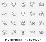 food and drink sketch icon set... | Shutterstock .eps vector #475884337