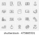 self education sketch icon set... | Shutterstock .eps vector #475885531