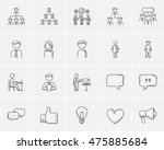 Business Sketch Icon Set For...