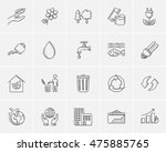 ecology sketch icon set for web ... | Shutterstock .eps vector #475885765