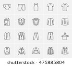 clothes for men sketch icon set ... | Shutterstock .eps vector #475885804