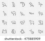 animals sketch icon set for web ...   Shutterstock .eps vector #475885909
