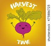 harvest time illustration... | Shutterstock .eps vector #475886725