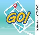 go sign  | Shutterstock .eps vector #475889461