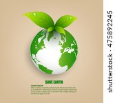 save energy for earth | Shutterstock .eps vector #475892245