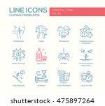 set of modern simple line... | Shutterstock . vector #475897264