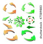 vector colored arrows 3d