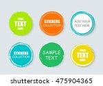 set of flat modern and hand...   Shutterstock .eps vector #475904365